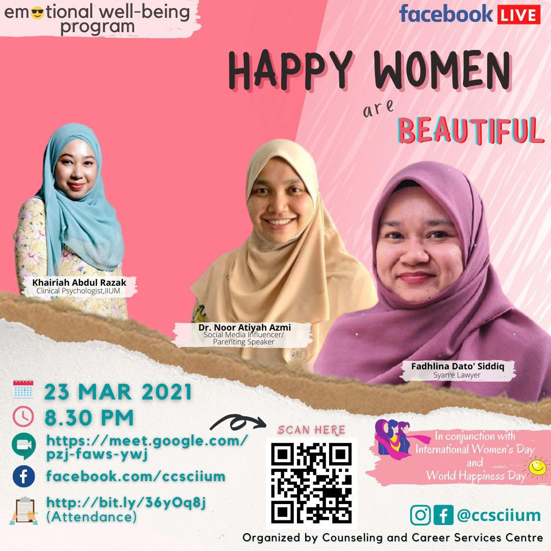 EMOTIONAL WELL-BEING PROGRAM: HAPPY WOMEN ARE BEAUTIFUL