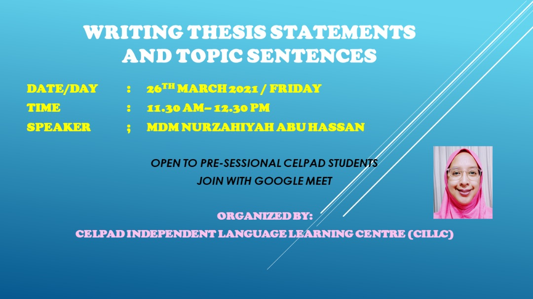 Writing Thesis Statements and Topic Sentences