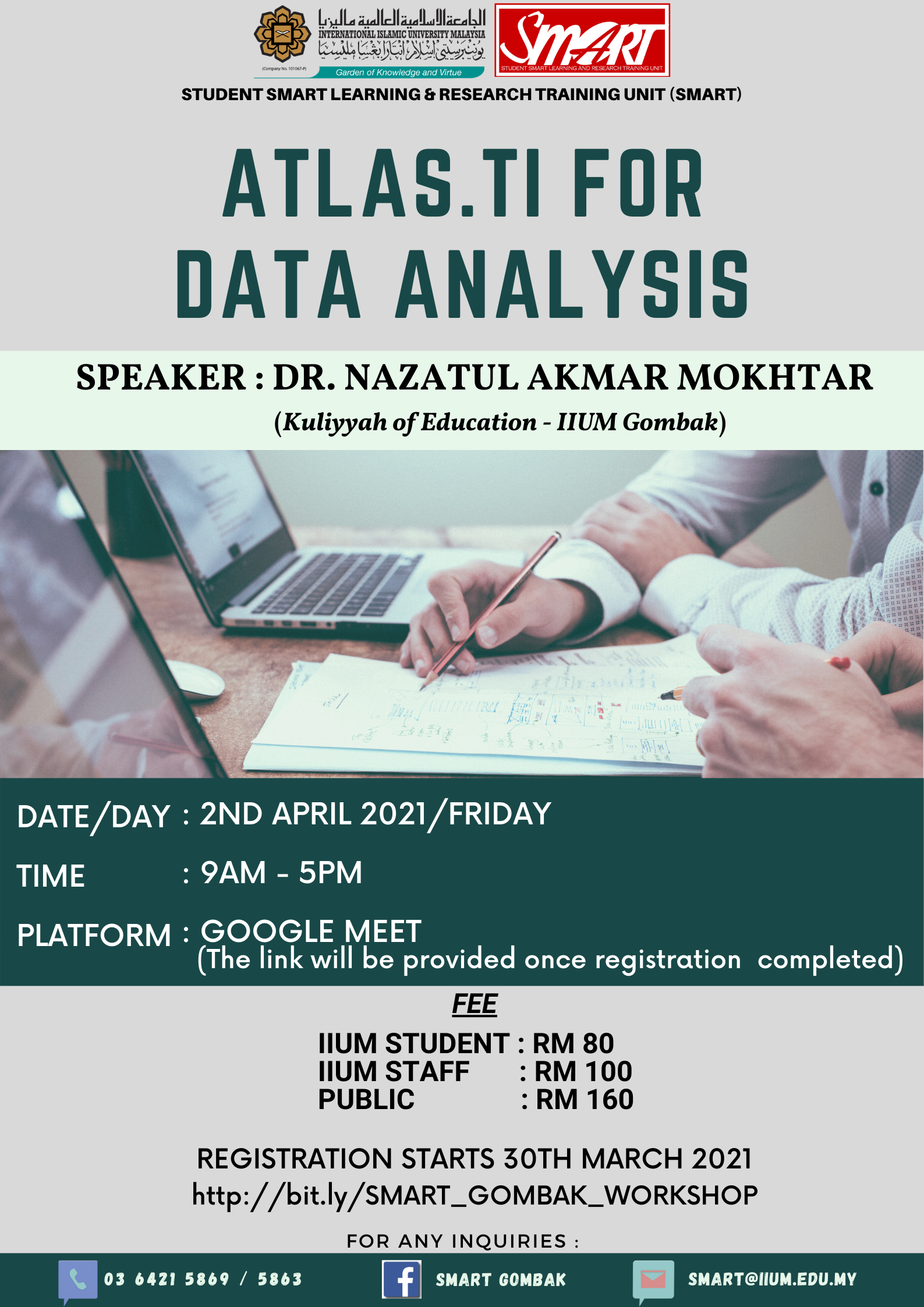 WORKSHOP : ATLAS.TI for DATA ANALYSIS