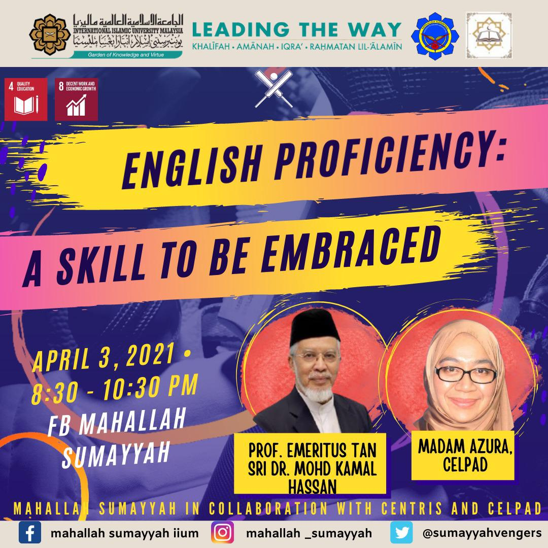 ENGLISH PROFICIENCY: A SKILL TO BE EMBRACED