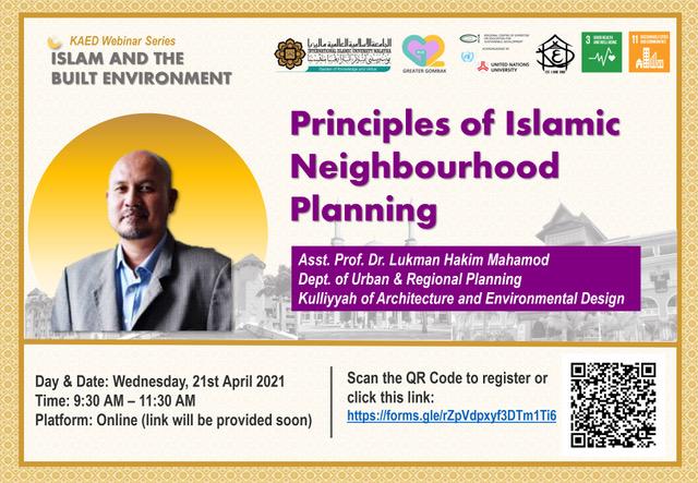 KAED Webinar Series: Principles of Islamic Neighbourhood Planning