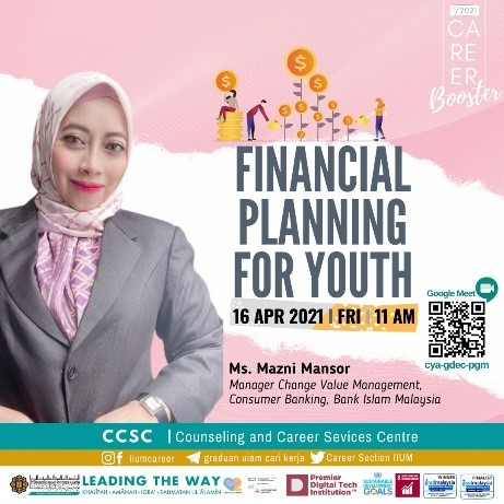 CAREER BOOSTER 1/2021: FINANCIAL PLANNING FOR YOUTH