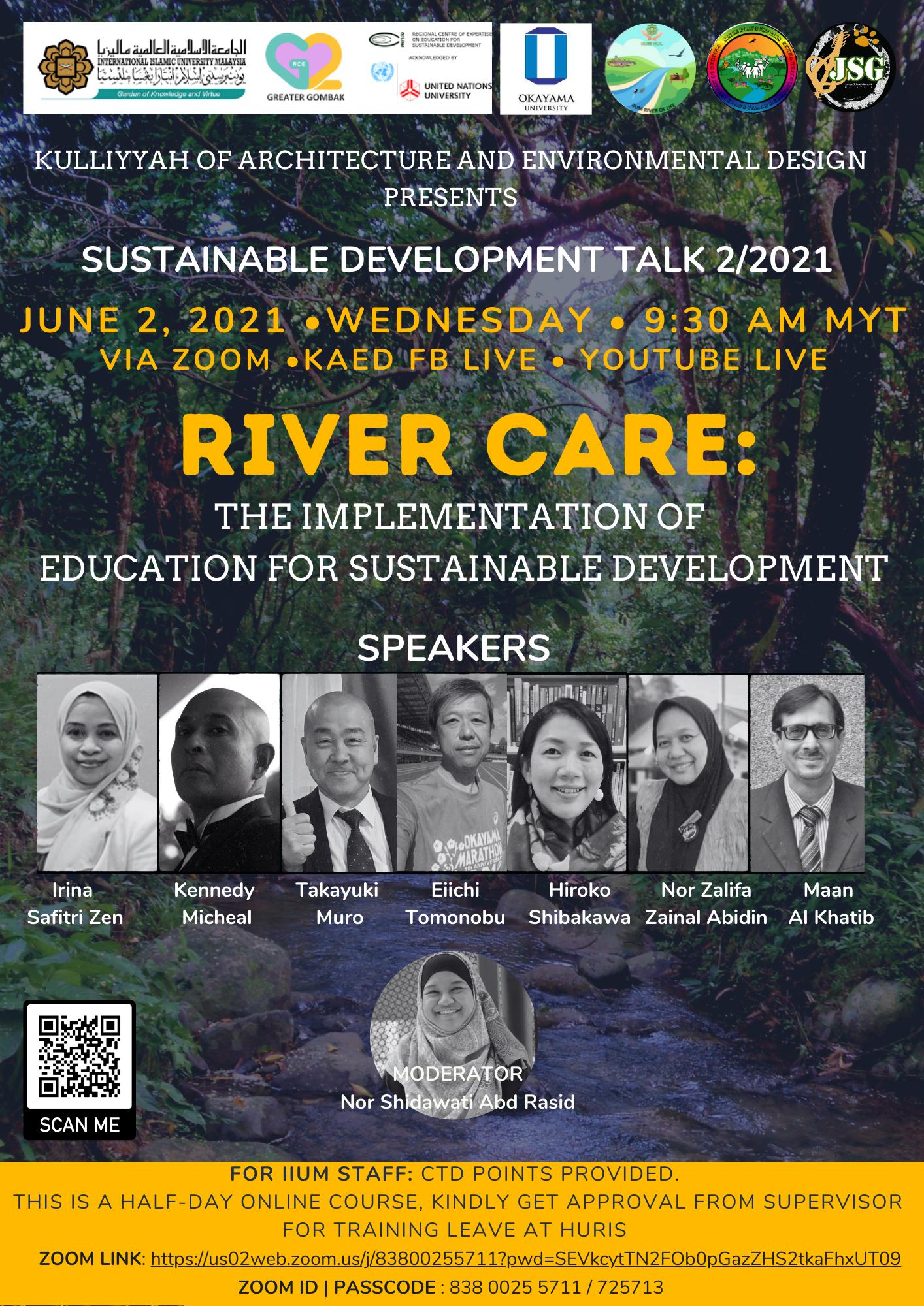 KAED Sustainable Development Talk 2/2021: River Care - The Implementation Education for Sustainable Development