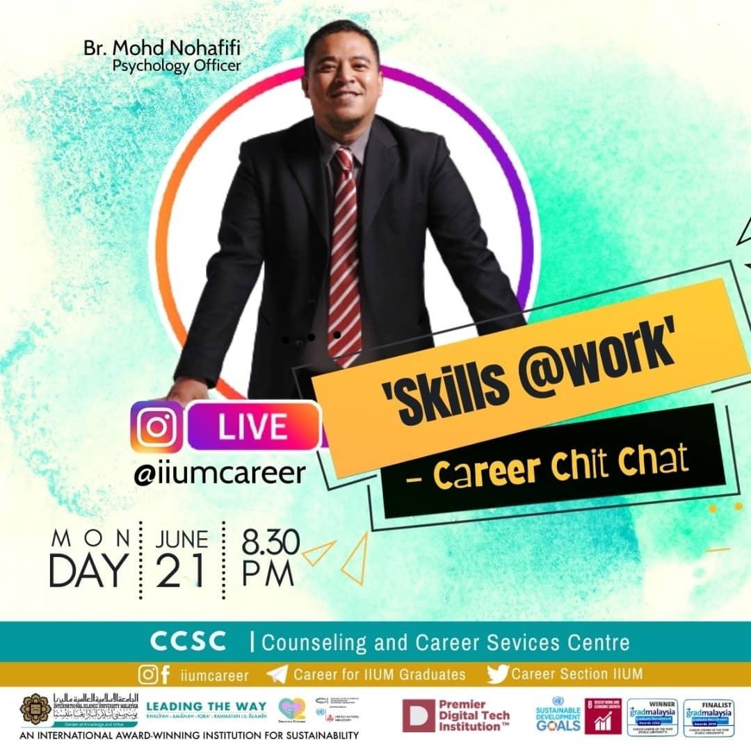 "Career Chit-Chat 3/2021: ""SKILLS @work"