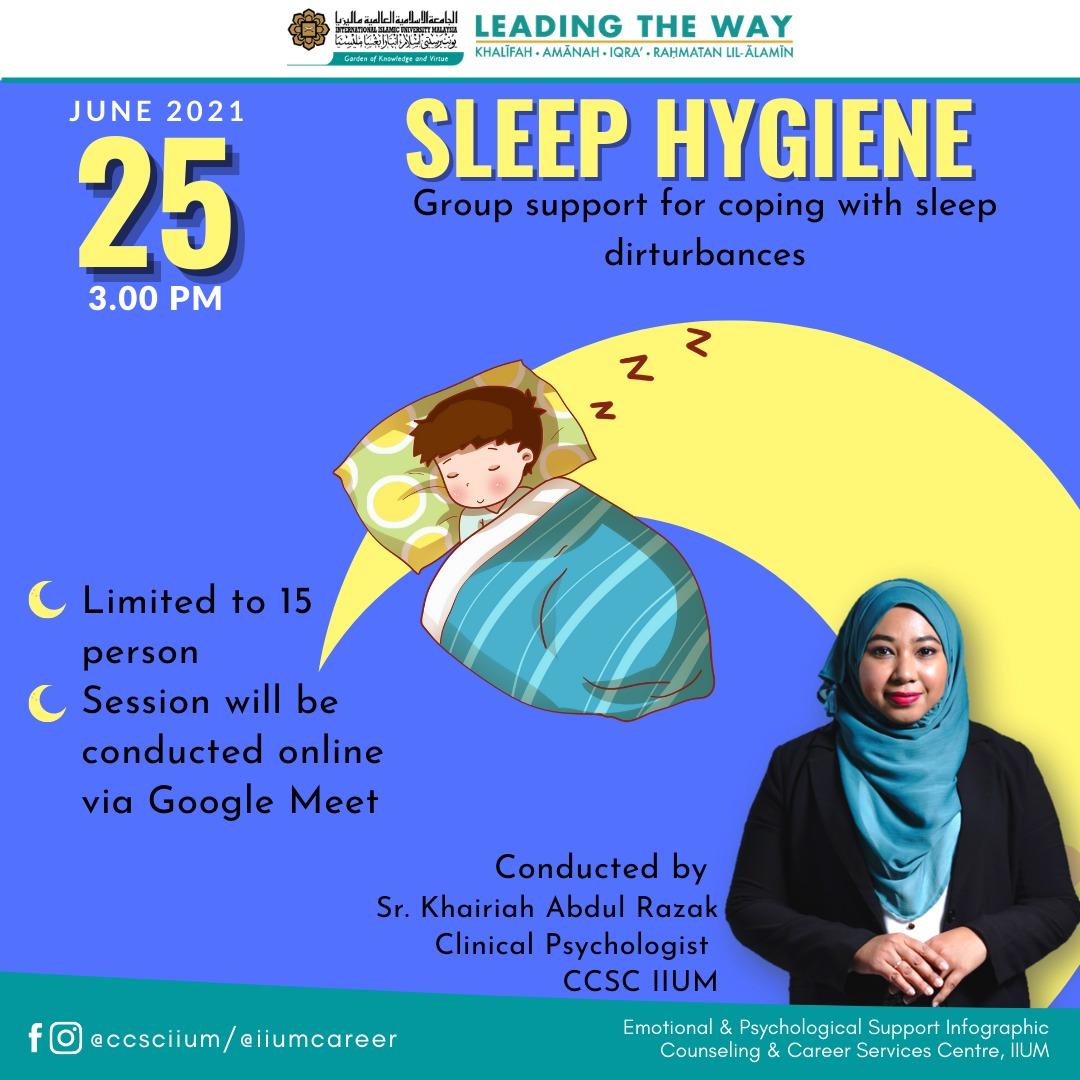 SLEEP HYGIENE SUPPORT GROUP