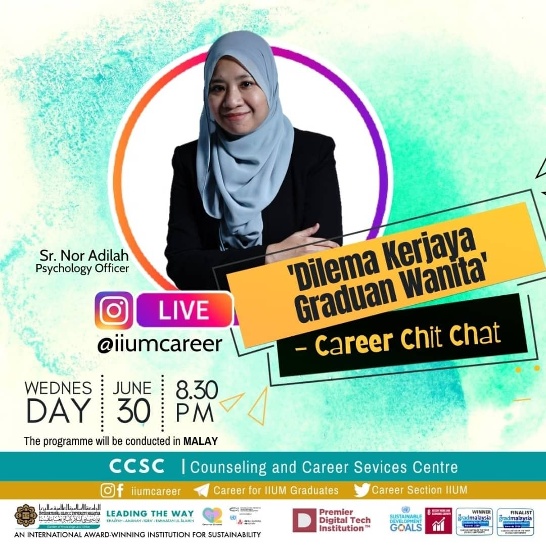 """Career Chit-Chat 6/2021: """"Dilema Kerjaya Graduan Wanita"""""""""""