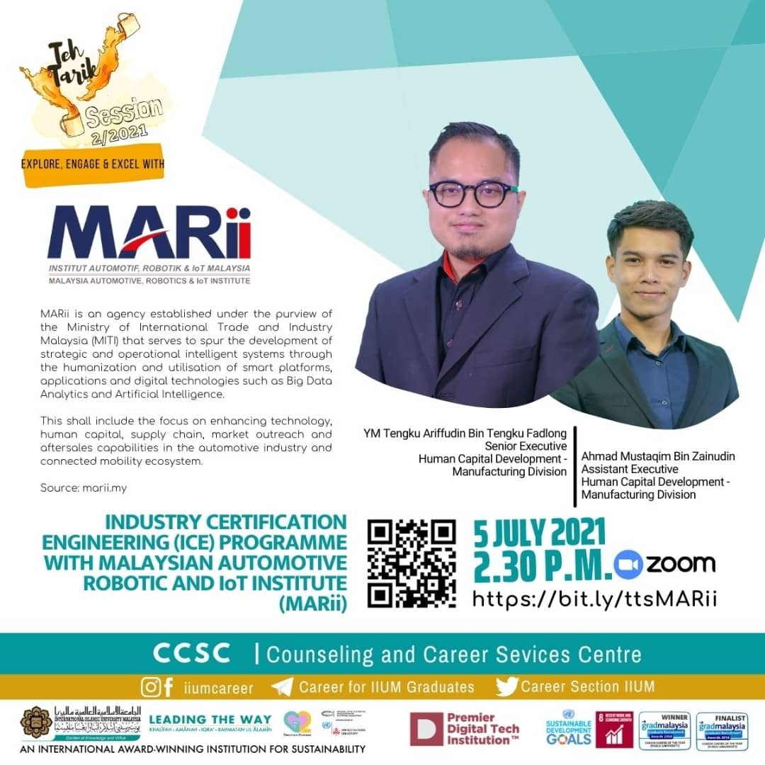 The Tarik Session 2/2021: Industry Certificate Engineering (ICE) with MARII