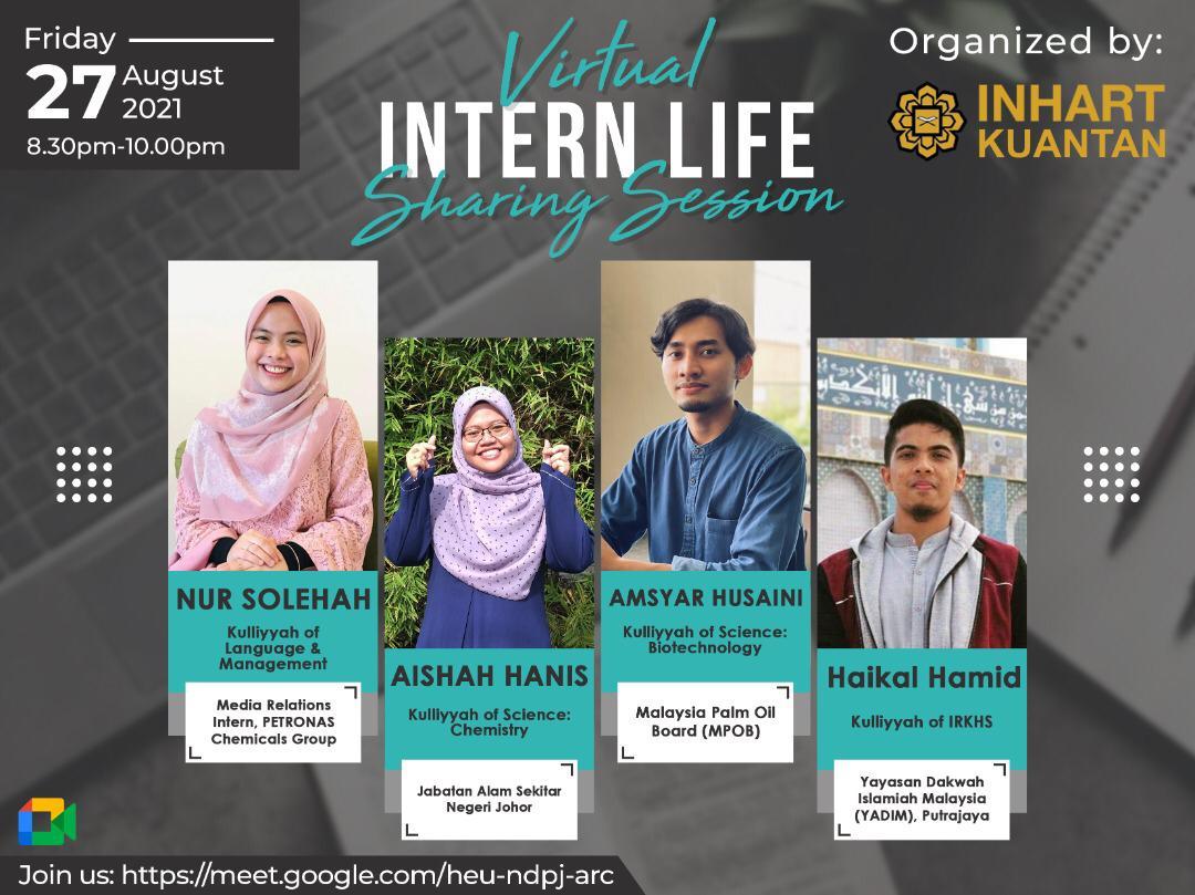 'INTERN LIFE' VIRTUAL SHARING SESSION