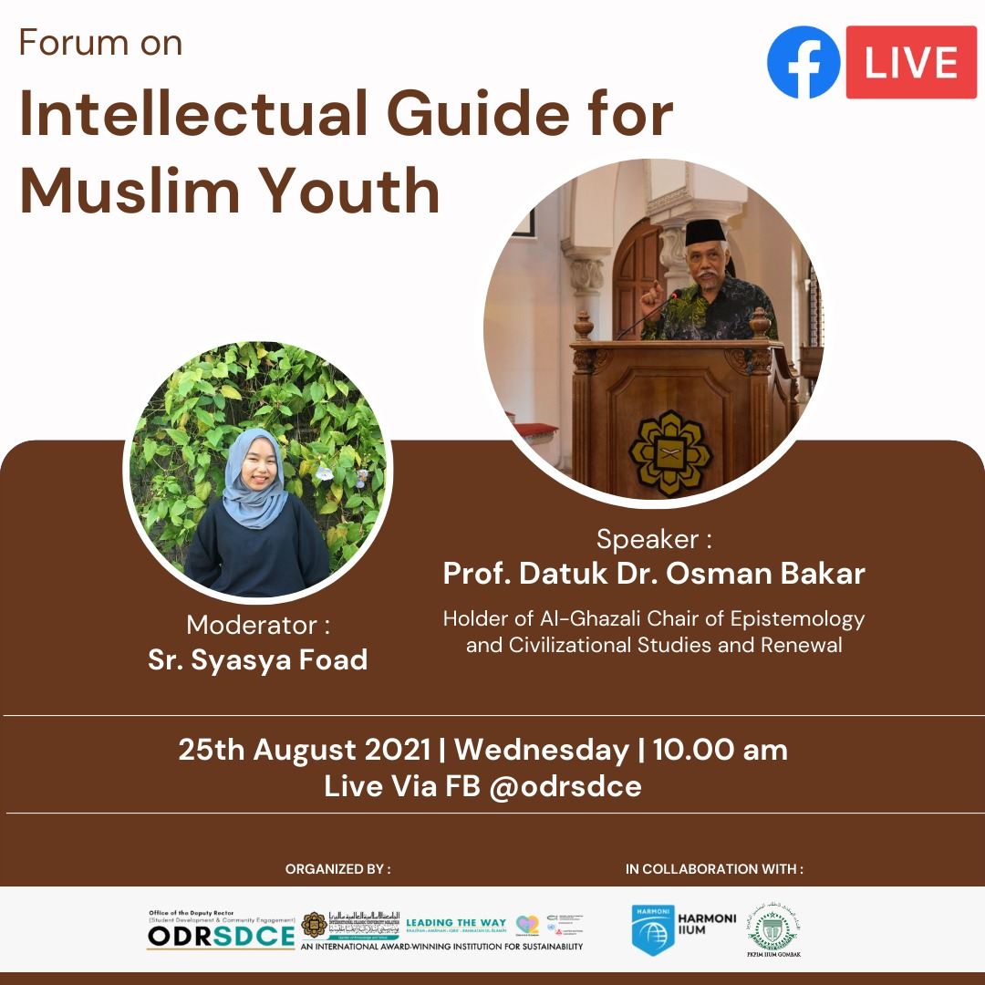 INVITATION TO ATTEND A FORUM ON INTELLECTUAL GUIDE FOR MUSLIM YOUTH