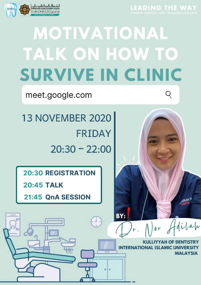 Motivational Talk on How to Survive in Clinic