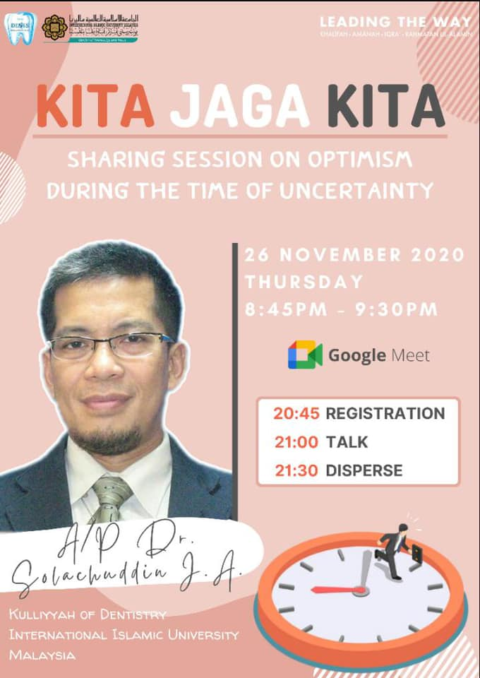 Kita Jaga Kita: Sharing session on optimism during the time of uncertainty