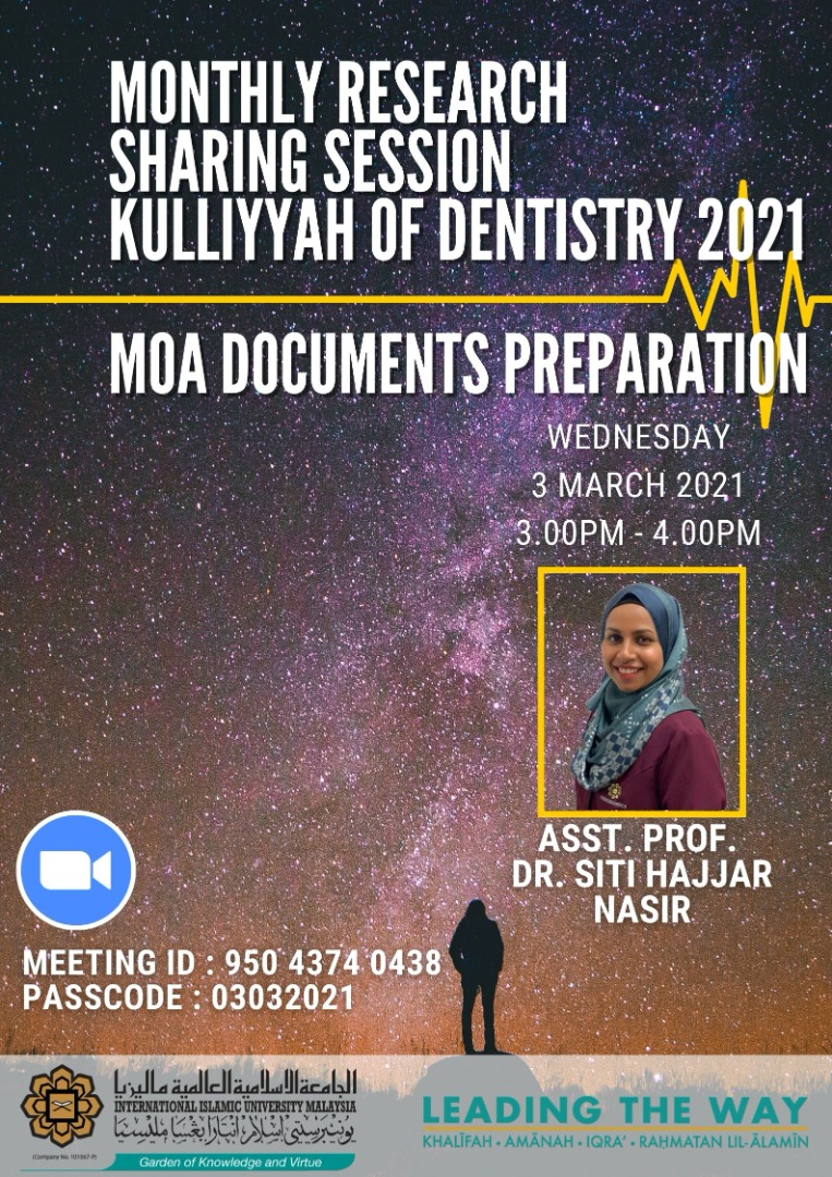 Research Sharing Session: MOA Documents Preparation