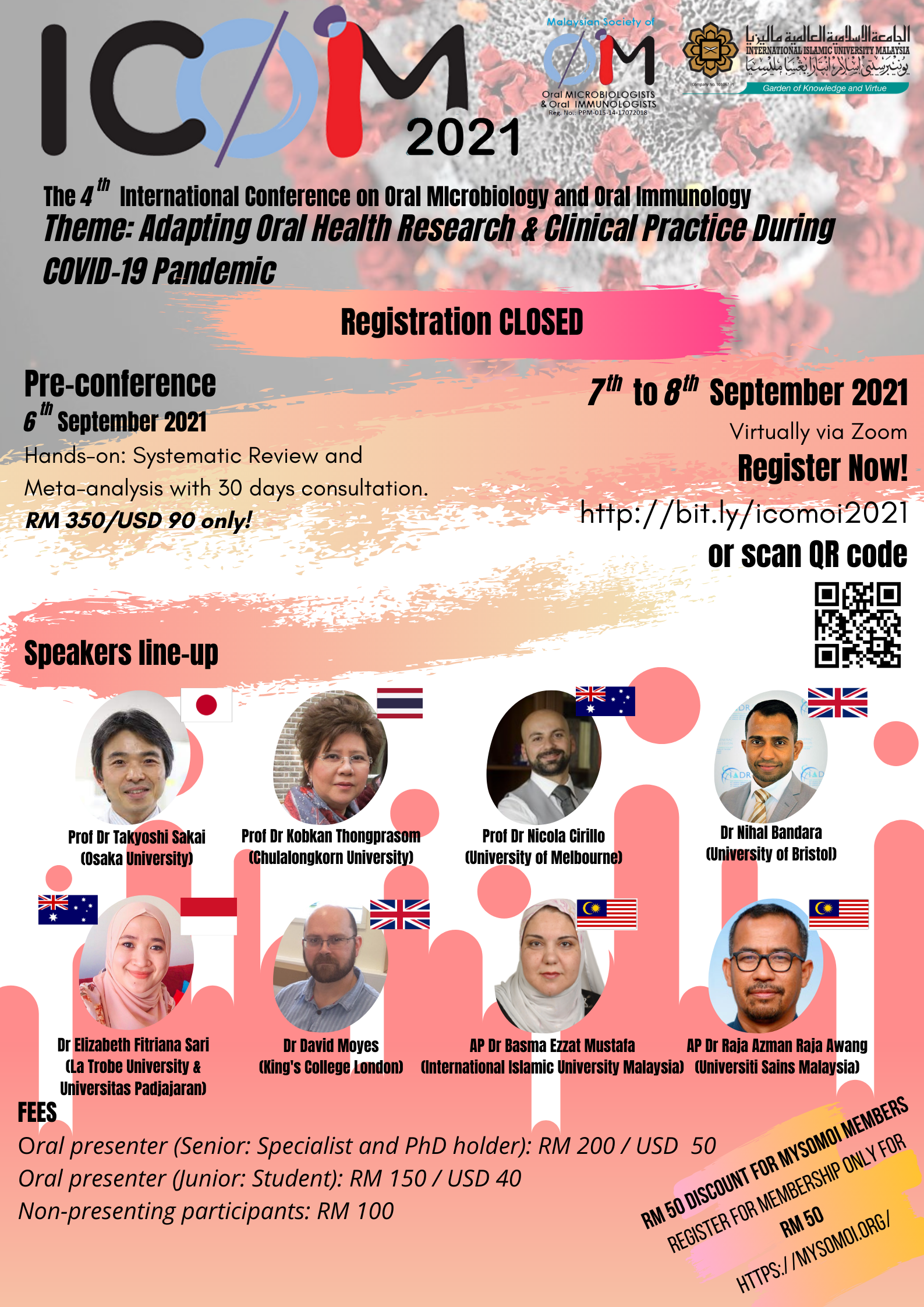 4th International Conference on Oral Microbiology and Oral Immunology