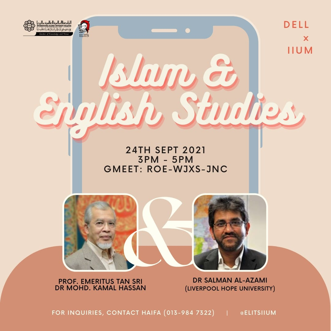 ISLAM AND ENGLISH STUDIES WEBINAR