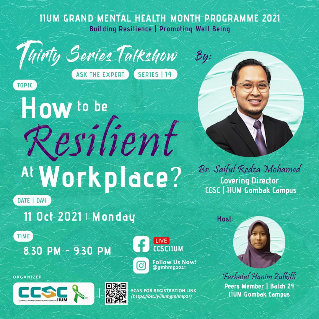 GMHMP 2021: THIRTY SERIES TALKSHOW [Ask the Expert : Series 14]