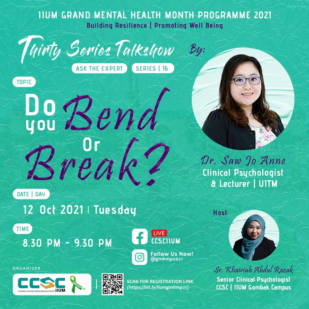 GMHMP 2021: THIRTY SERIES TALKSHOW [Ask the Expert : Series 16]