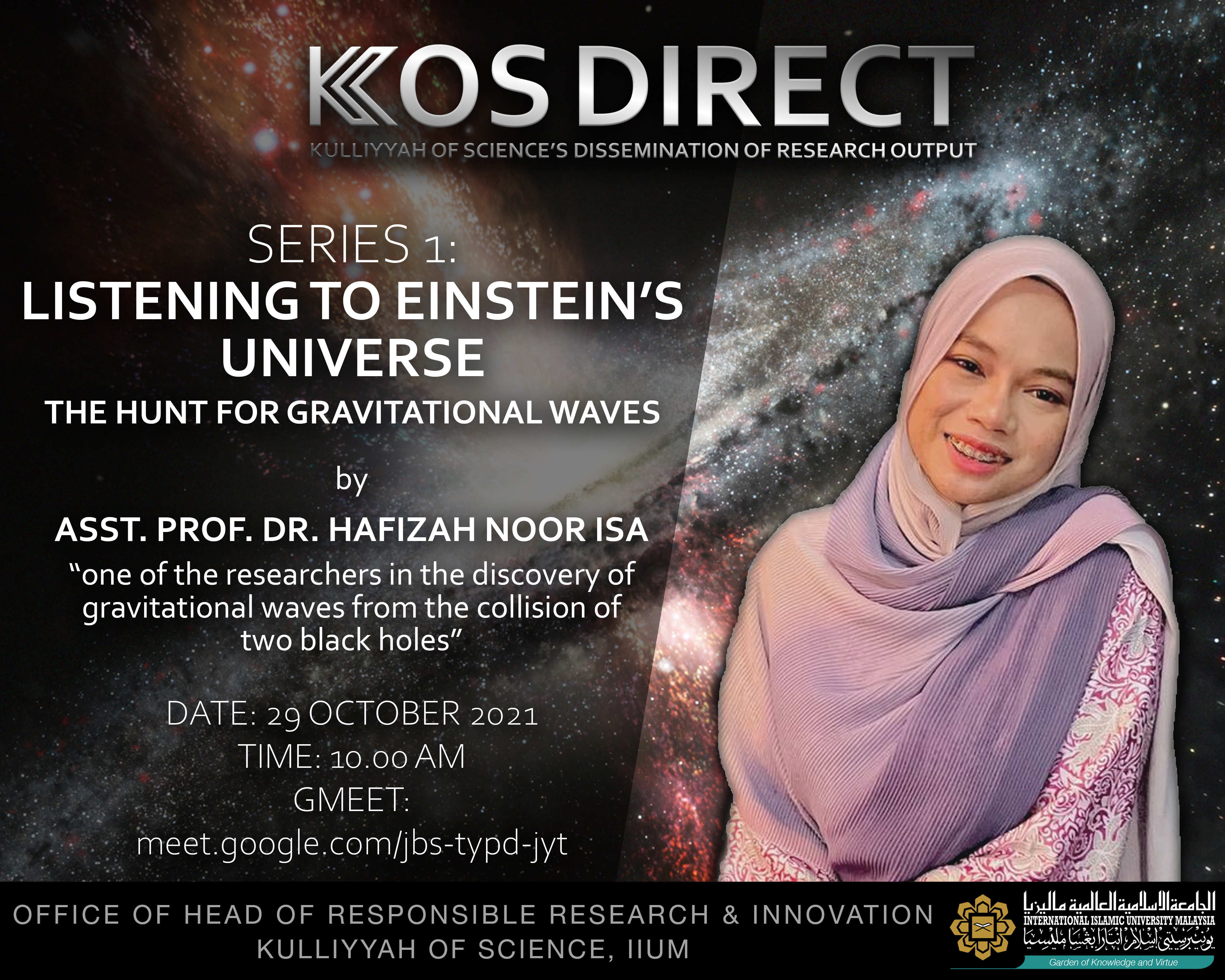Kulliyyah of Science Dissemination of Research Output (KOS DIRECT) Series 1