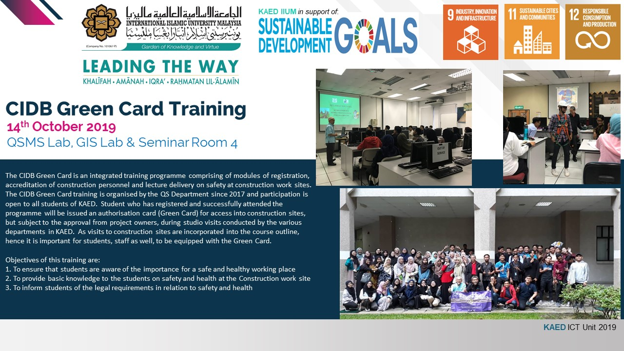 CIDB Green Card Training