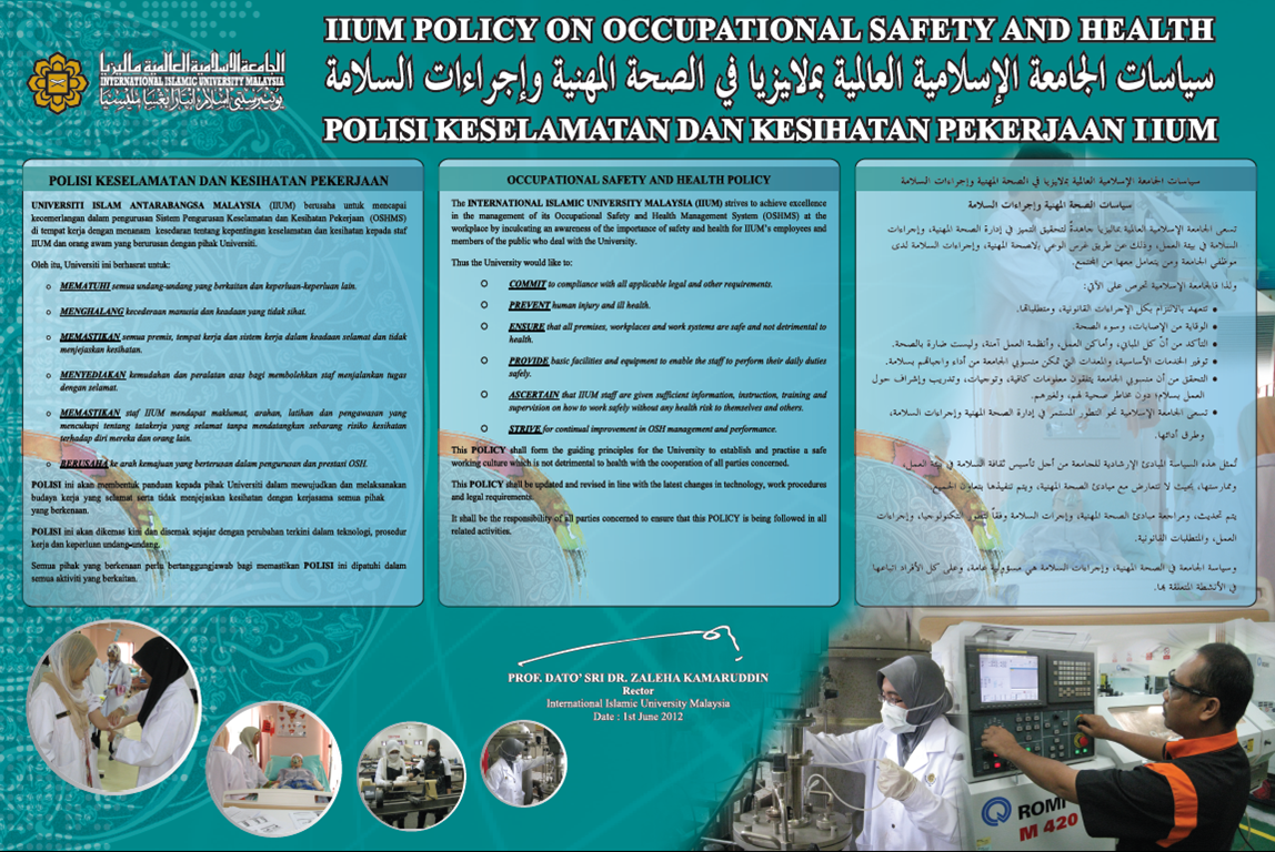 OCCUPATIONAL SAFETY, HEALTH AND BUILT ENVIRONMENT DEPARTMENT