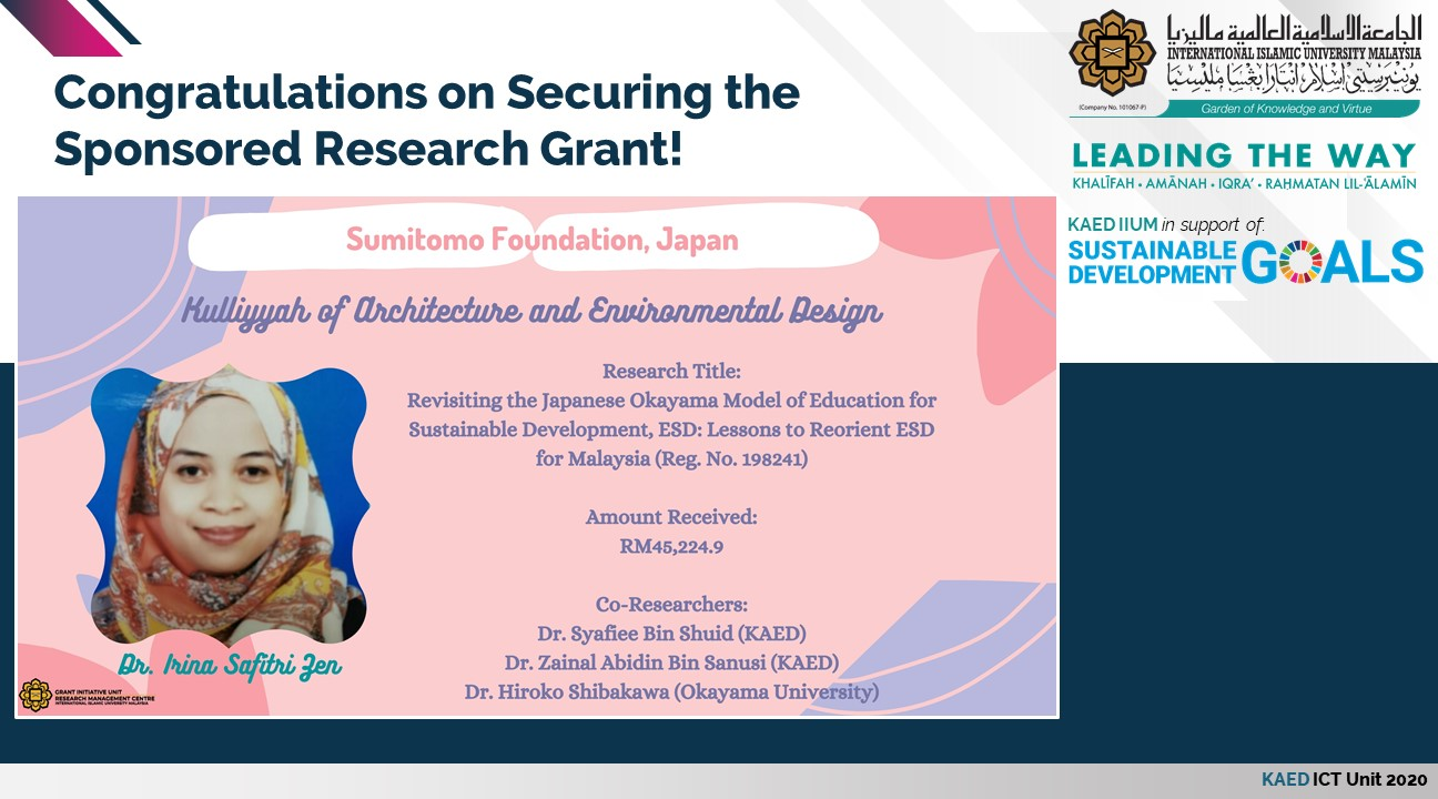 Congratulations on Securing the Sponsored Research Grant!
