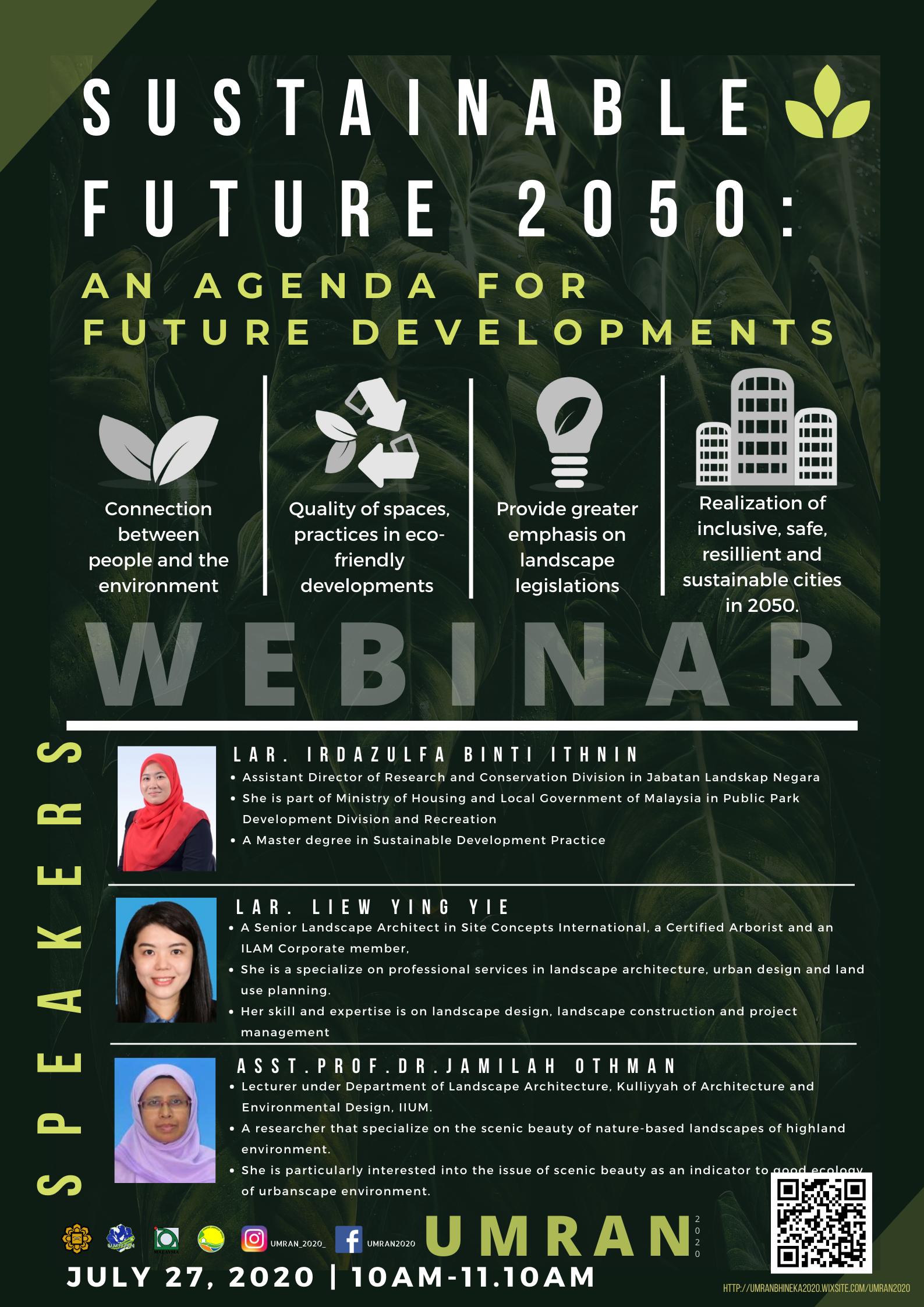Sustainable Future Webinar