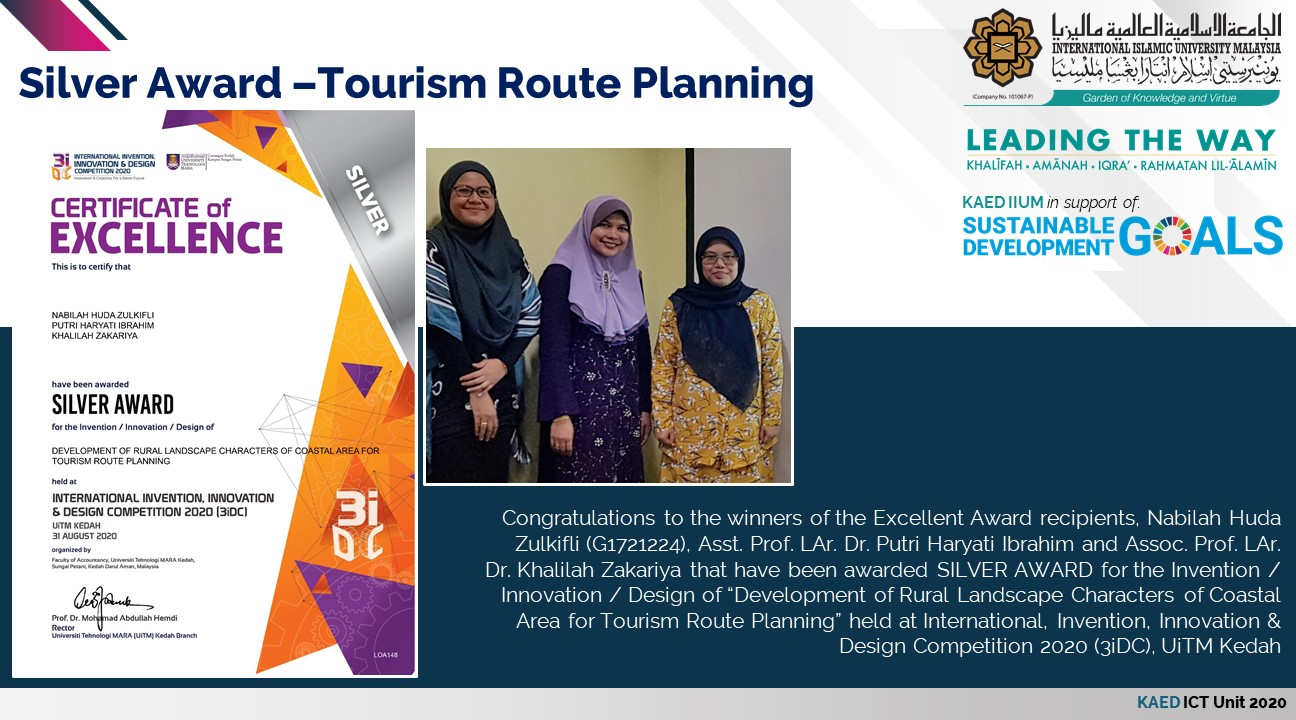 Silver Award - Tourism Route Planning