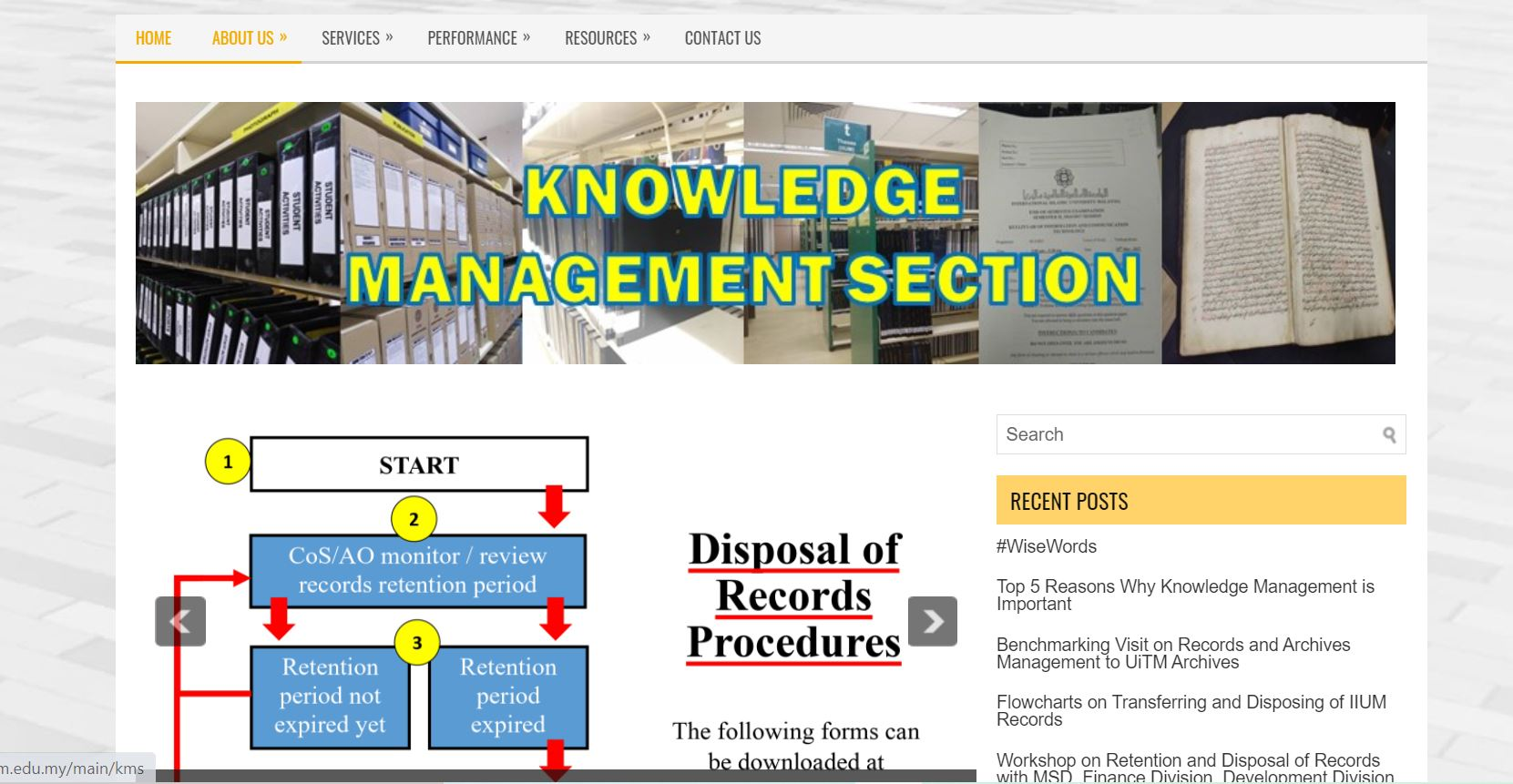 Knowledge Management Section