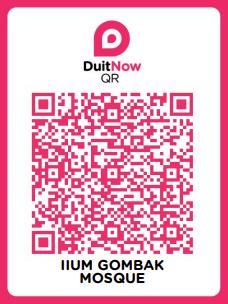 Duit Now QR IIUM Gombak Mosque