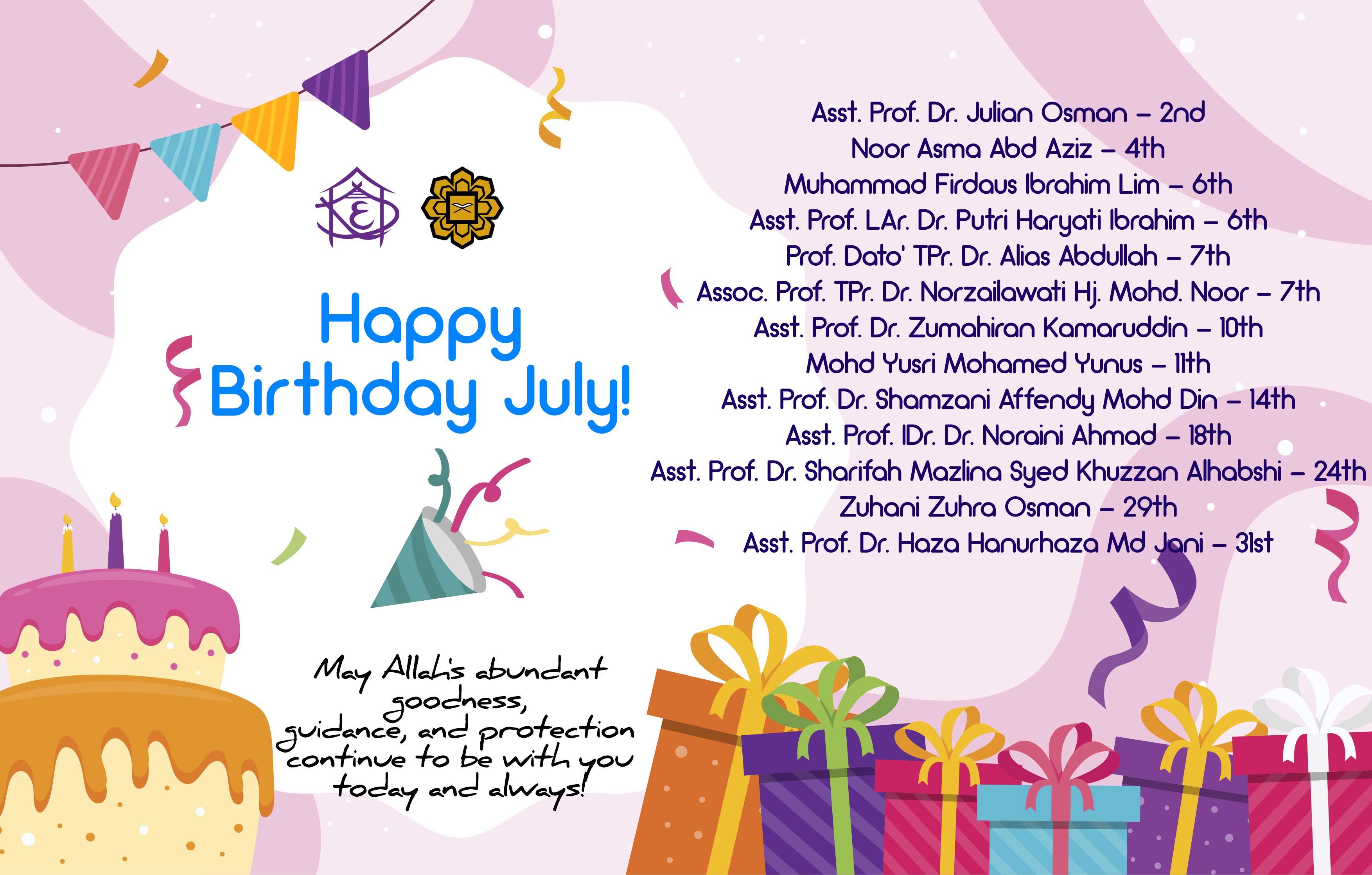 Happy Birthday July!