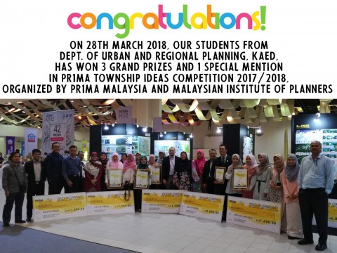 KAED student won at PR1MA Township Ideas Competition 2017/2018