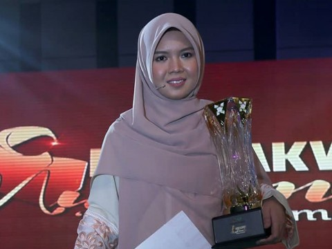Congratulations to Raudhatul Jannah Mohd Rozli of IIUM for winning the Muslimah Da'i 2018 Award