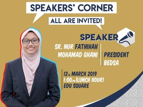 SPEAKERS CORNER : STUDENT UNION