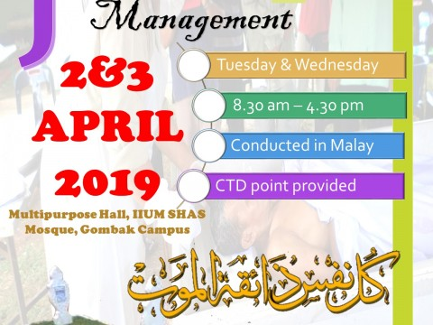 JANAZAH MANAGEMENT COURSE 2019