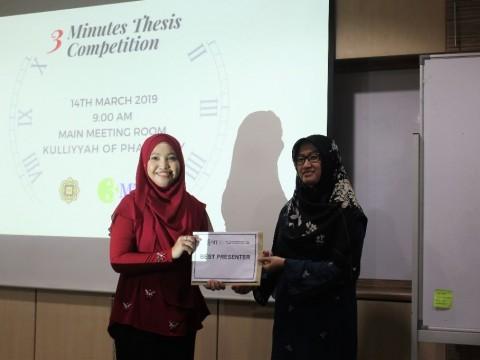 KOP Postgraduate Symposium 2019: 3-MINUTES-THESIS (3MT) COMPETITION