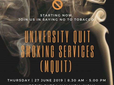 INVITATION TO UNIVERSITY QUIT SMOKING SERVICES (mQuit) PROGRAMME