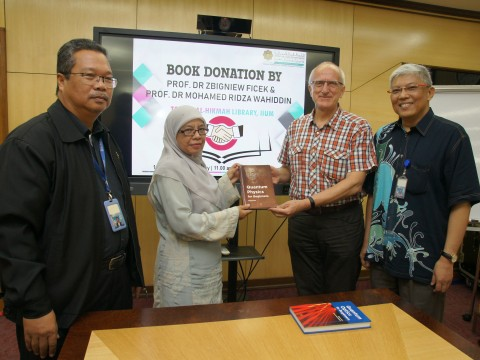 Book Donation Event at IIUM Main Library (Dar Al-Hikmah).