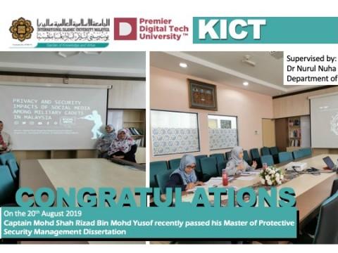 Congratulations to Captain Mohd Shah Rizad Bin Mohd Yusof
