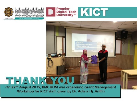 Grant Management Workshop for KICT Staff