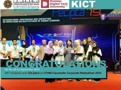 KICT students won 3rd place at UTHM-Fraunhofer Corporate Makeathon 2019