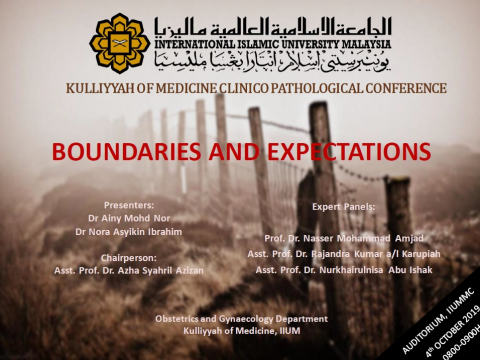 'Boundaries and Expectations' - KOM CPC by Dept. of Obstetrics & Gynaecology