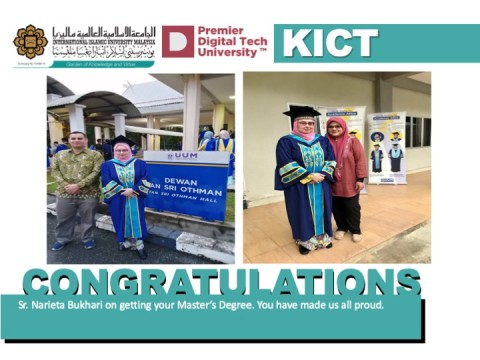 Congratulations Sister Narieta Bukhari!
