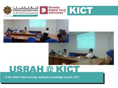 Usrah at kict 11 oct 2019