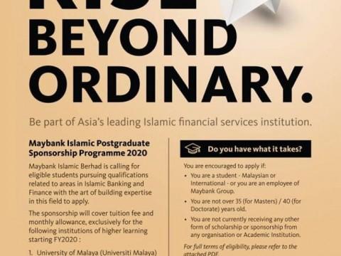 Maybank Islamic Postgraduate Sponsorship Programme