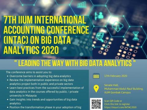 7TH IIUM INTERNATIONAL ACCOUNTING CONFERENCE ON BIG DATA ANALYTICS (INTAC 2020): LEADING THE WAY WITH BIG DATA ANALYTICS