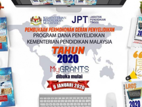 ANNOUNCEMENT ON THE OPENING OF THE MINISTRY OF EDUCATION MALAYSIA RESEARCH GRANT APPLICATION 2020 (LRGS, TRGS, PRGS & FRGS)