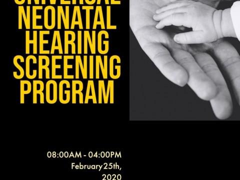 Workshop on Universal Neonatal Hearing Screening (UNHS) Program