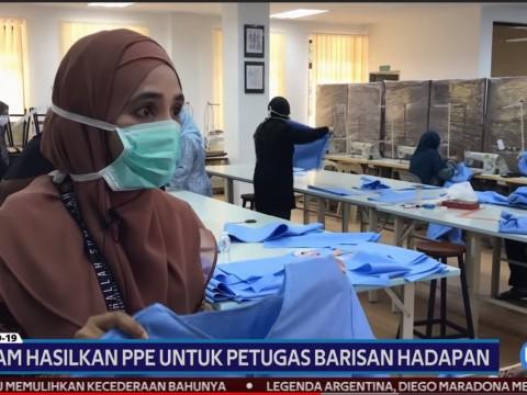 UIAM Hasilkan PPE untuk petugas barisan hadapan