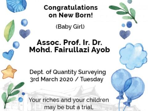 Congratulations to New Born!