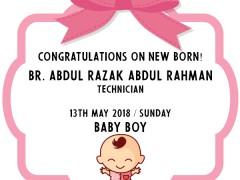 Congratulation on New Born - Br.  Abd Razak  Abd Rahman