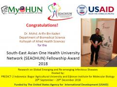 Congratulations!!!   Dr. Mohd Arifin Kaderi   Fellowship Award 2018